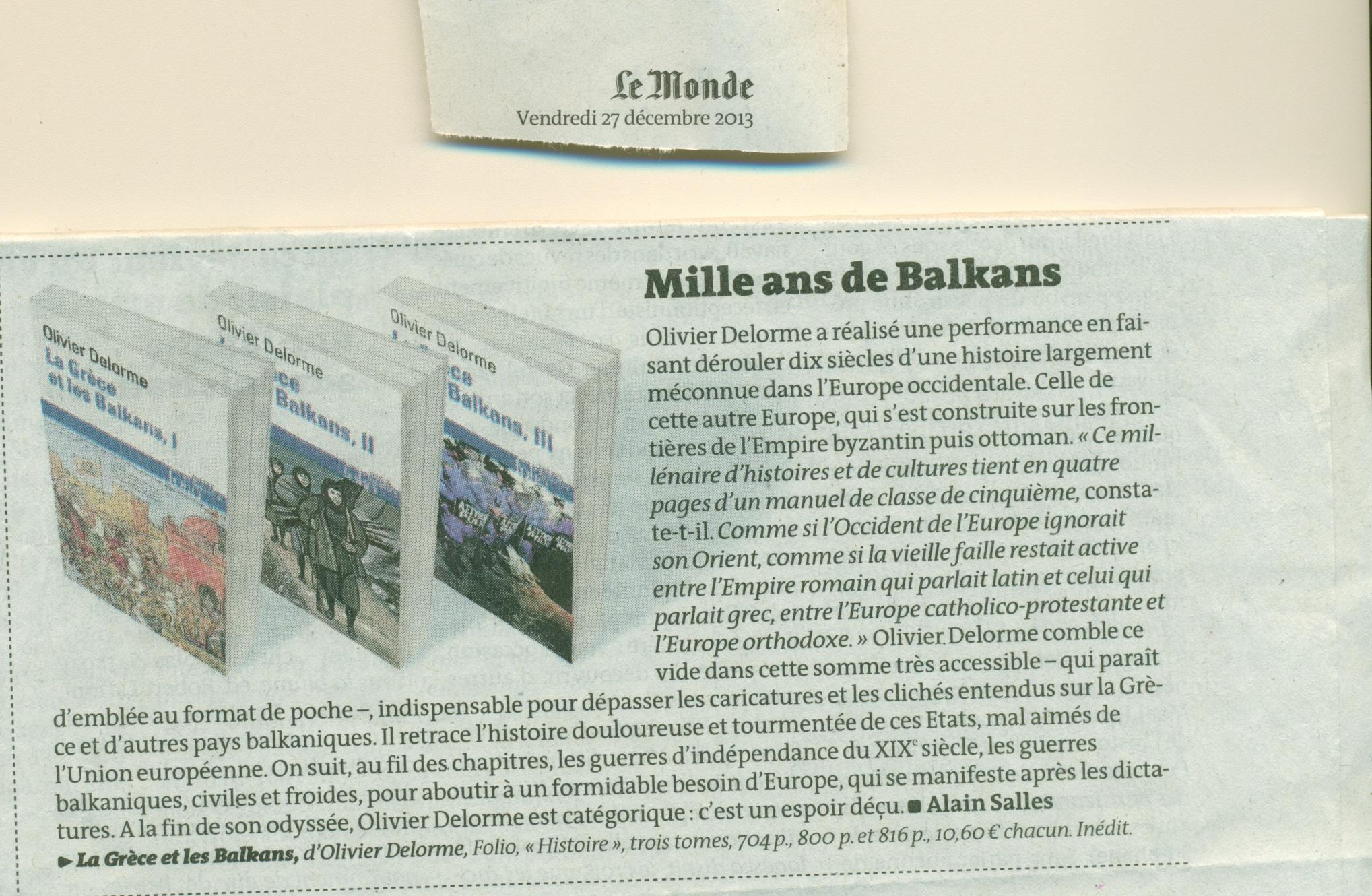 Olivier delorme accueil - Salon du livre des balkans ...